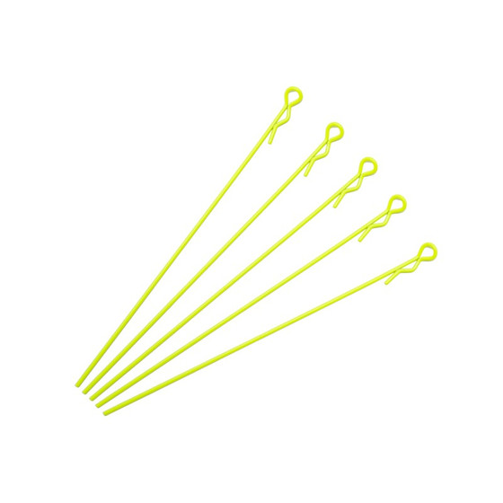 Extra Long Body Clip 1/10 - Fluorescent Yellow (5)