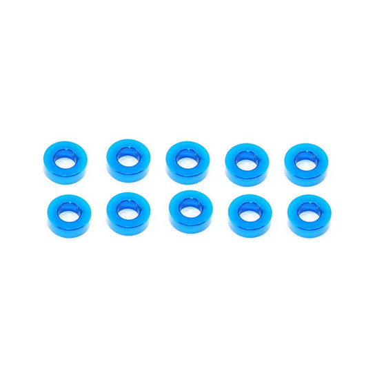 Alu Shims 3 x 6 x 2 Blue (10)